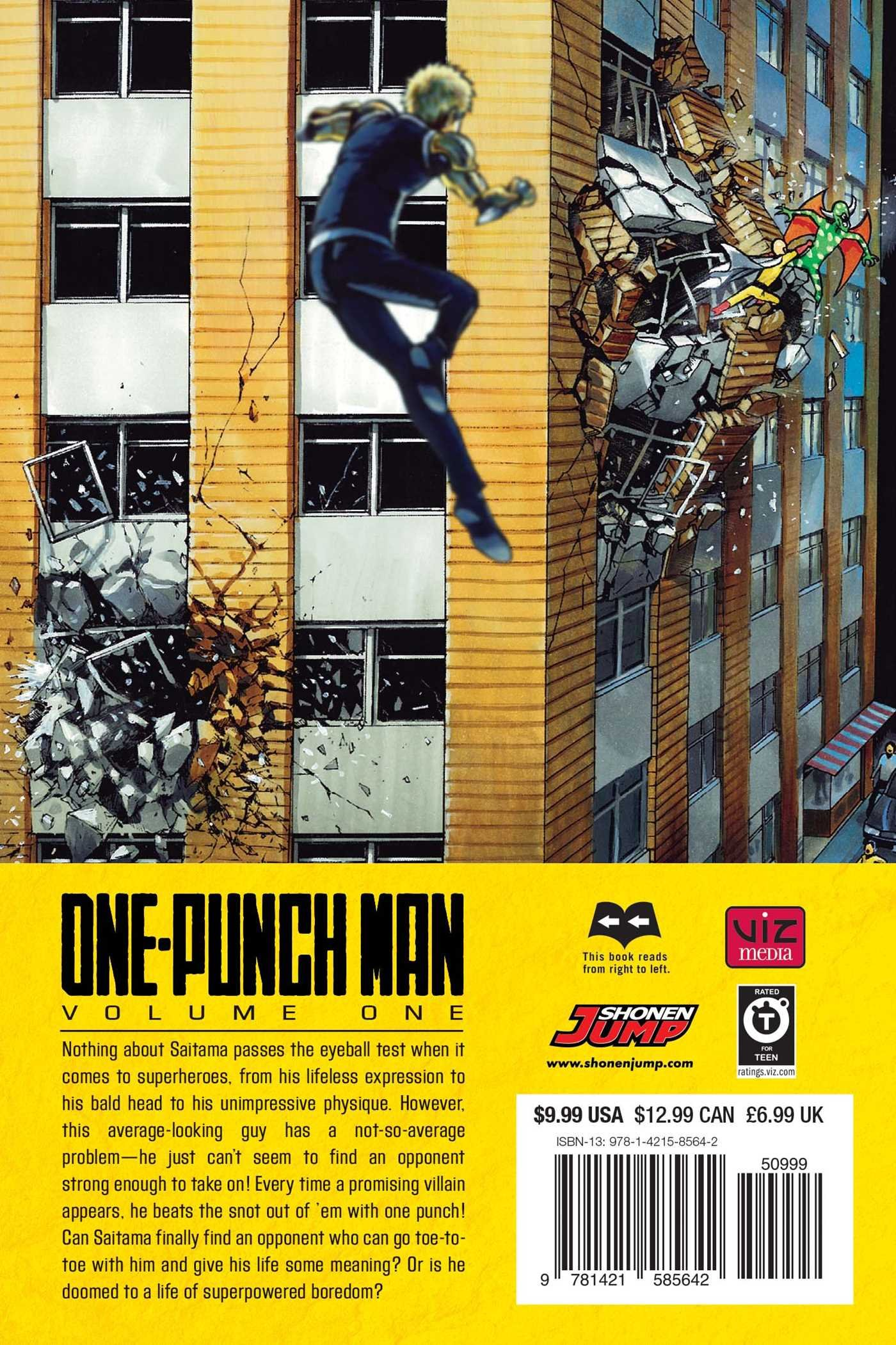 Amazon com: One-Punch Man, Vol  1 (1) (9781421585642): ONE