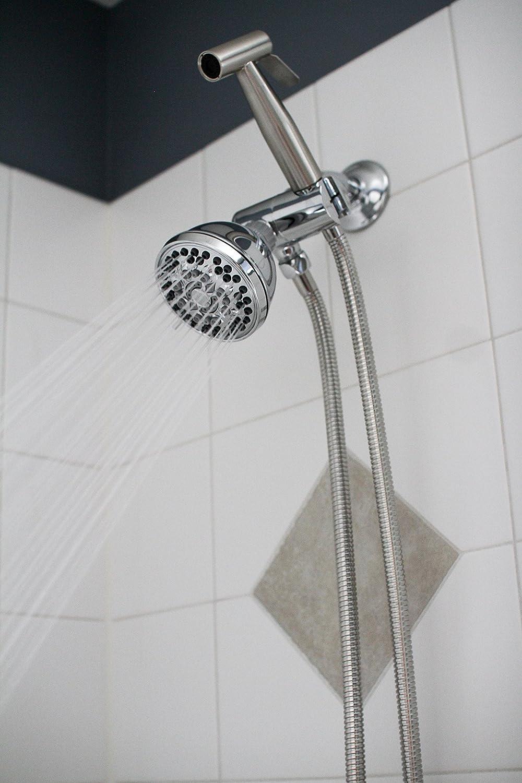 SmarterFresh Hand Held Shower Bidet Stainless Steel Sprayer Set ...