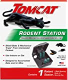 Tomcat Rodent Station, Includes 1 Rodent Station with 4 Bait Securing Rods and 1 Security Key - Fits Rat or Mouse Sized…