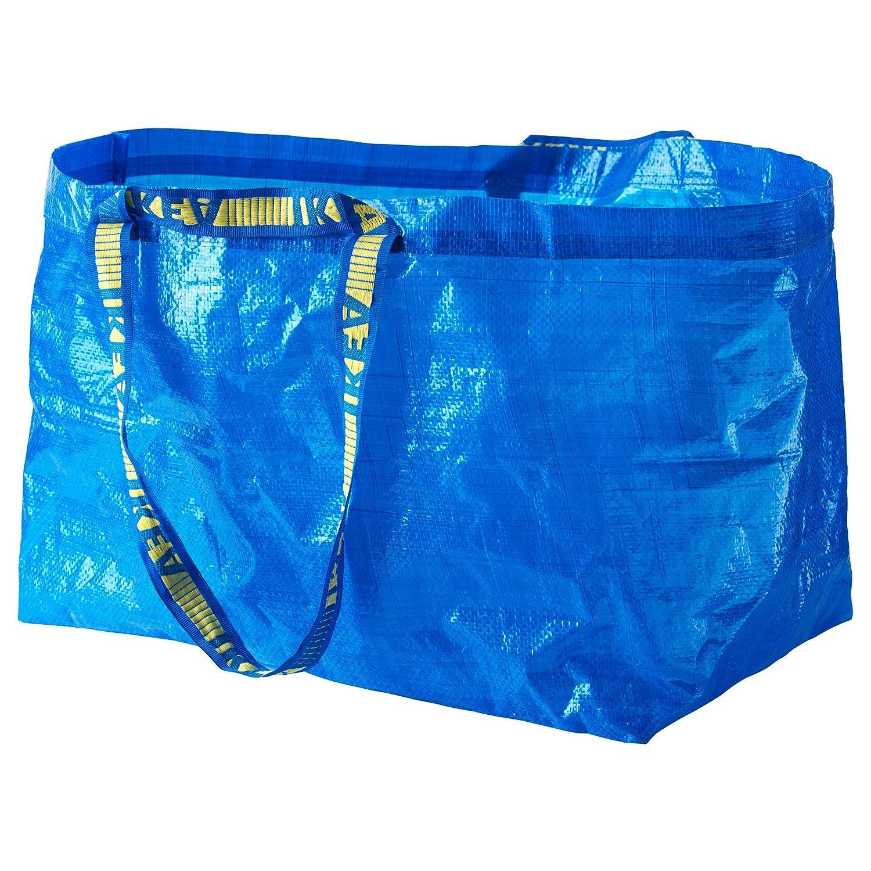 FRAKTA BLUE LARGE SHOPPING, LAUNDRY BAG SET OF 3 IKEA 172.283.40