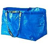 FRAKTA BLUE LARGE SHOPPING, LAUNDRY BAG SET OF 3