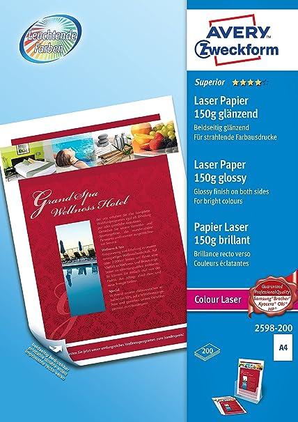 Avery Zweckform 2598-200 - Pack de 200 hojas de papel ...