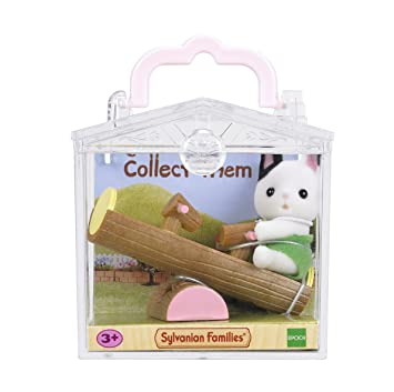 Sylvanian Families 5205 Cat On See Saw Baby Carry Case Multicolor