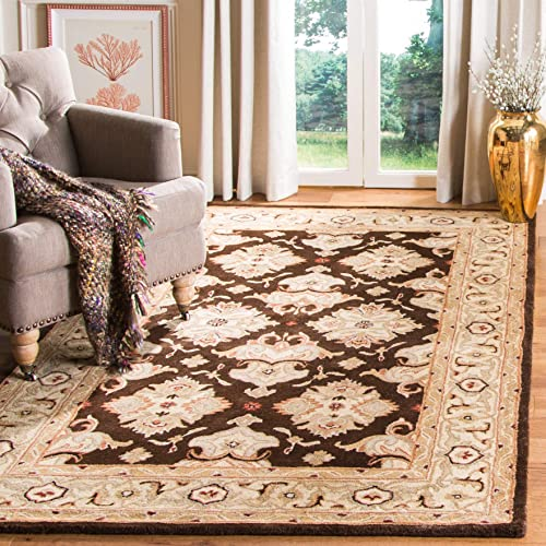 Safavieh Heritage Collection HG817B Handcrafted Traditional Oriental Espresso and Ivory Wool Area Rug 3 x 5