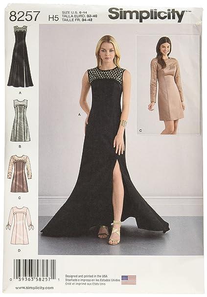 Simplicity H5 8257 – Patrones de Costura para ocasión Especial patrón de Costura para Vestidos