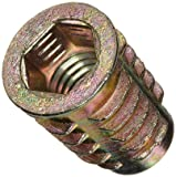 E-Z Lok Threaded Insert, Zinc, Hex-Flanged, M8-1.25 Internal Threads, 20mm Length