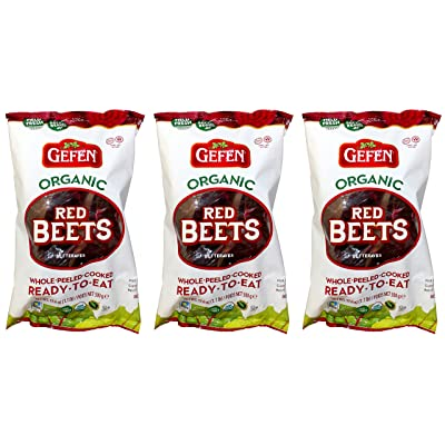 Gefen Organic Red Beets, Whole, Peeled, Cooked & Ready to Eat, 1.1lb (3 Pack): Grocery & Gourmet Food