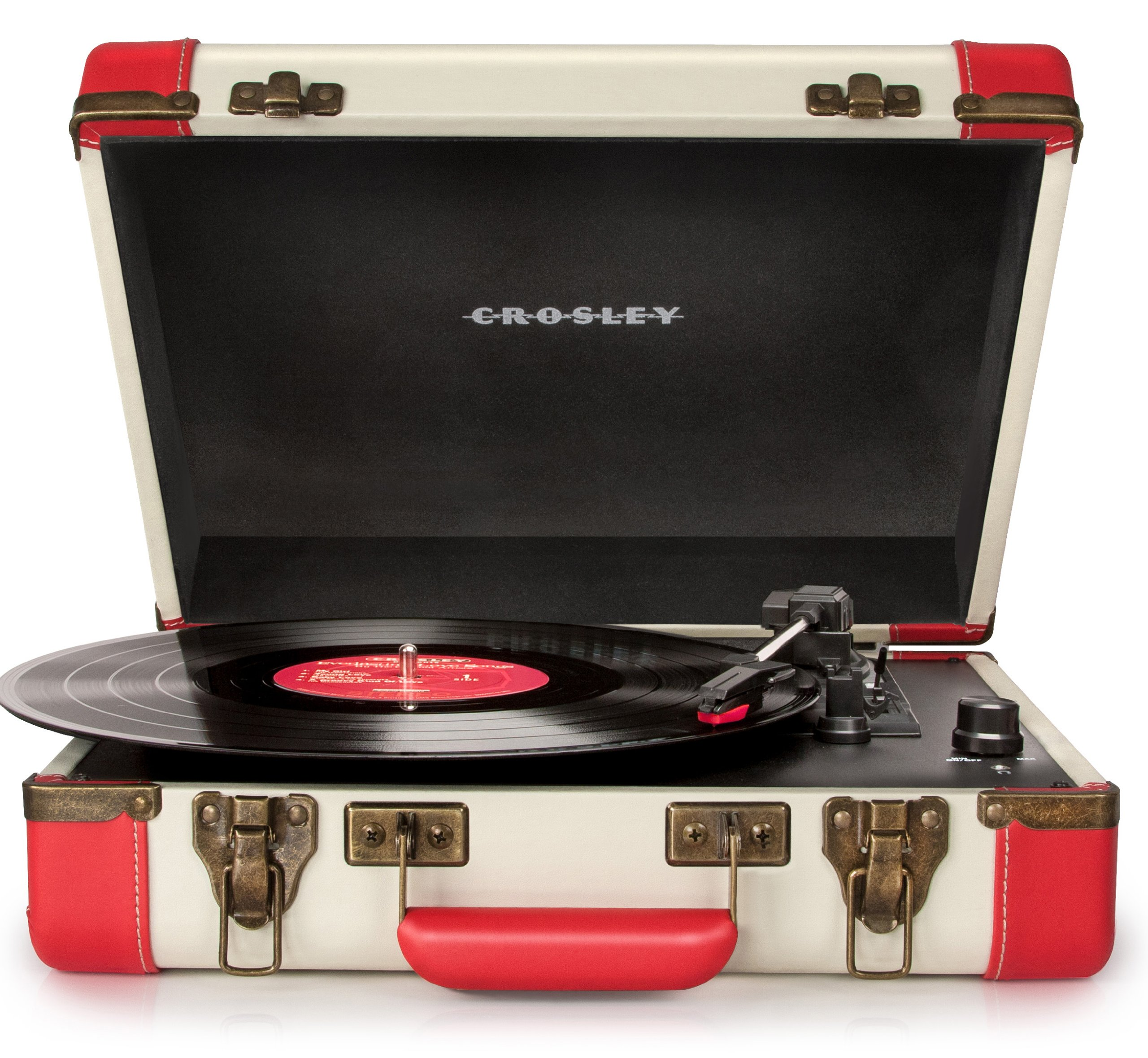 Crosley CR6019A-RE Executive Portable USB Turntable, Red by Crosley