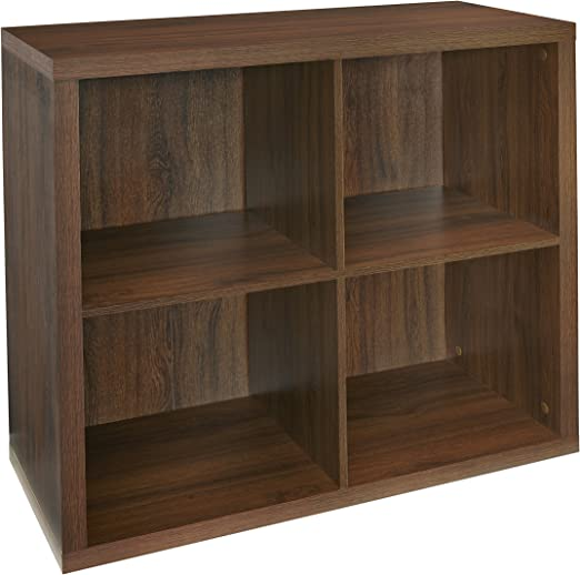 Dark Chestnut ClosetMaid 6108 Decorative 4-Cube Storage Organizer