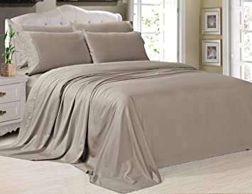 Swift Home Deluxe Resort Style Silky Soft Bamboo Cotton Bedding Sheet Set    Queen,