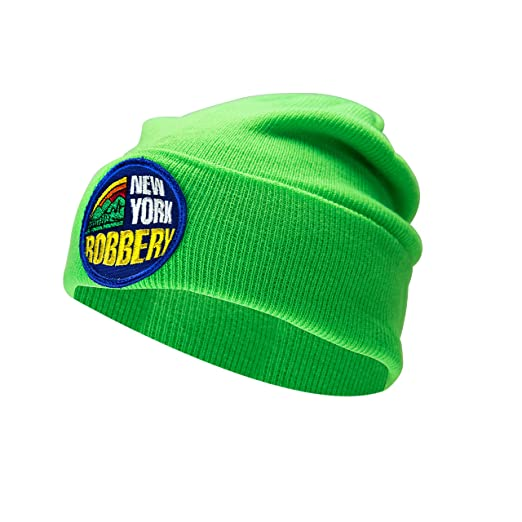 4d1eb04b5ea Amazon.com  2OG Scamie New York Robbery Knit Beanie (Green)  Books