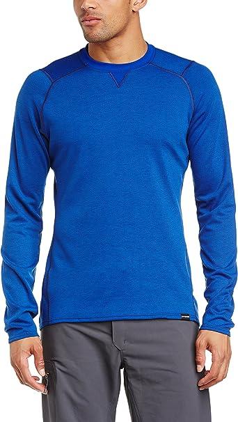 Amazon Com Patagonia Men S Capilene 3 Midweight Crew Classic Navy Viking Blue X Dye T Shirt Xl Clothing