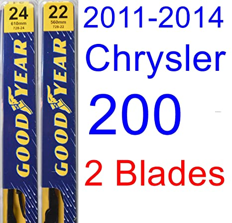 Amazon.com: 2011-2014 Chrysler 200 Replacement Wiper Blade Set/Kit (Set of 2 Blades) (Goodyear Wiper Blades-Premium) (2012,2013): Automotive