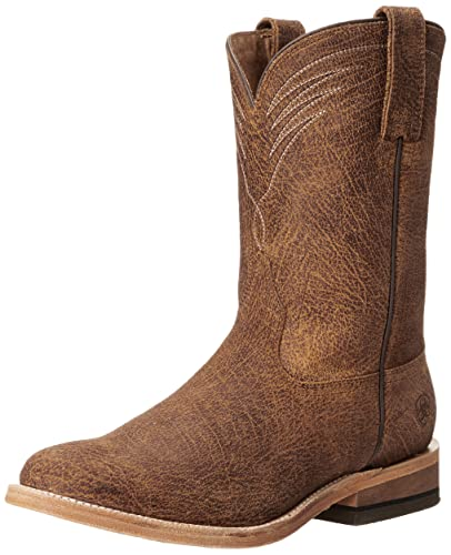 Amazon Com Ariat Men S Dress Roper Western Cowboy Boot Tan Oiled