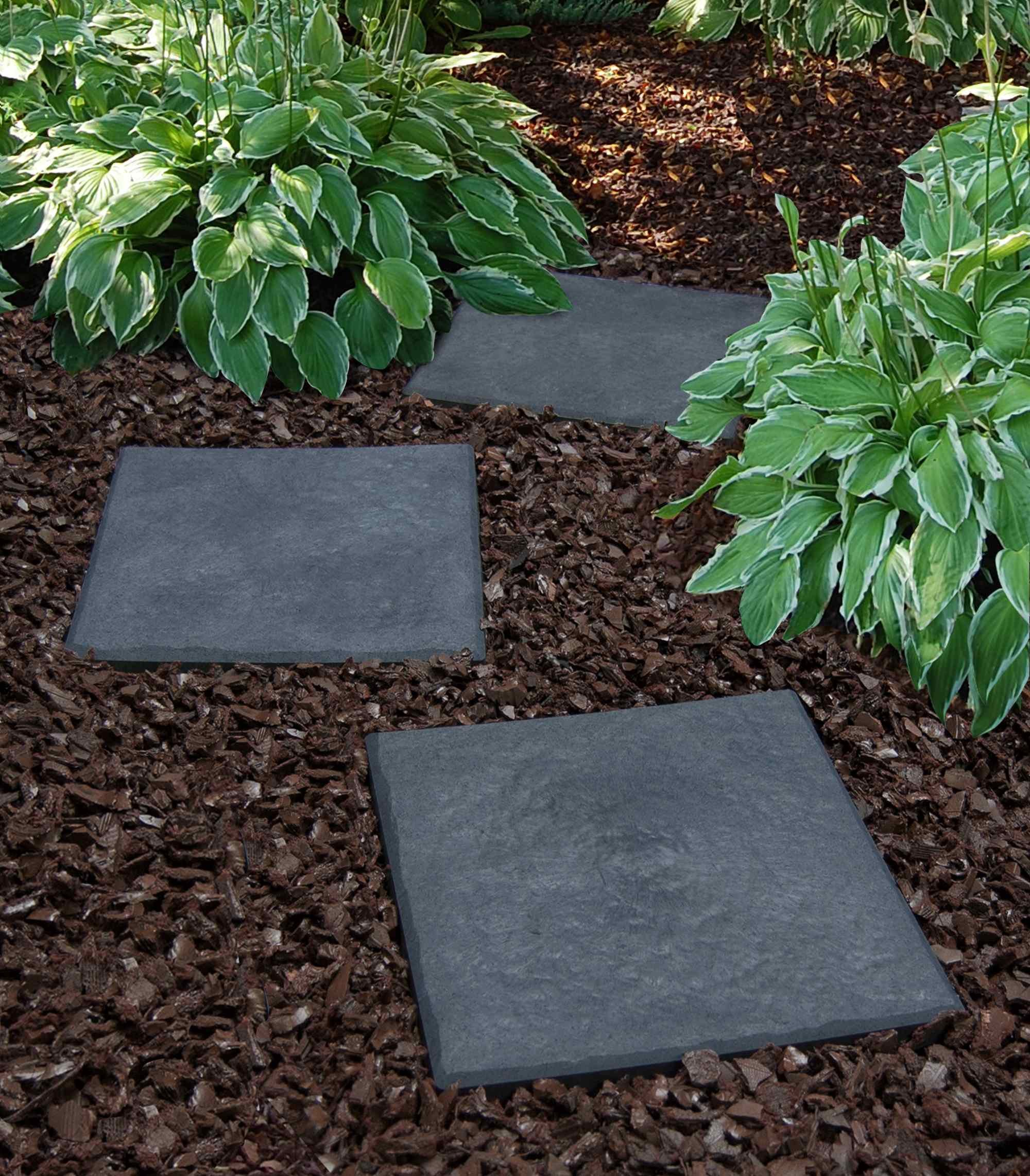 Multy Industries Multy Home MT5100000 4-Pack Stomp Stone, 12 by 12-Inch, Slate by MULTY INDUSTRIES