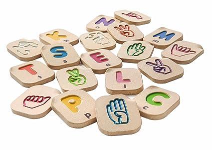 amazon com plantoys hand sign alphabet a z toys games