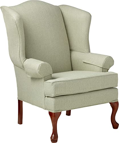 Source One Kinnara Wing Back Upholstered Chair, Cadet