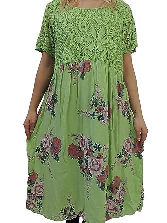 the latest 1e3c8 c855d Nowingline Schöne Farben zur Auswahl Damen Kleider Größe 46 48 50 52 54 mit  tollem Blumenmuster