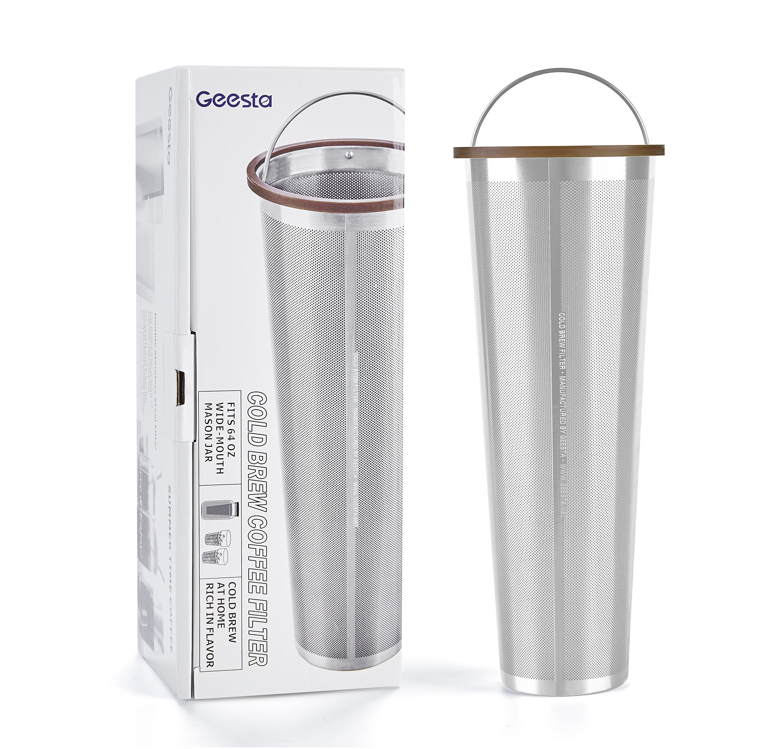 Ultra-Fine Mesh Cold Brew Coffee Filter to Use with 2-Quart Mason Jar by Geesta (Image #1)