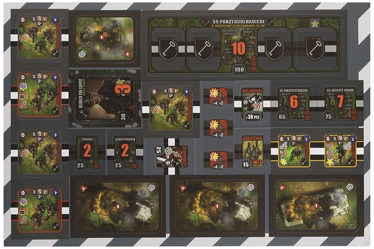 GE SS Panzergrenadier Board Game Flat River Group 58008 IELLO Heroes of Normandie