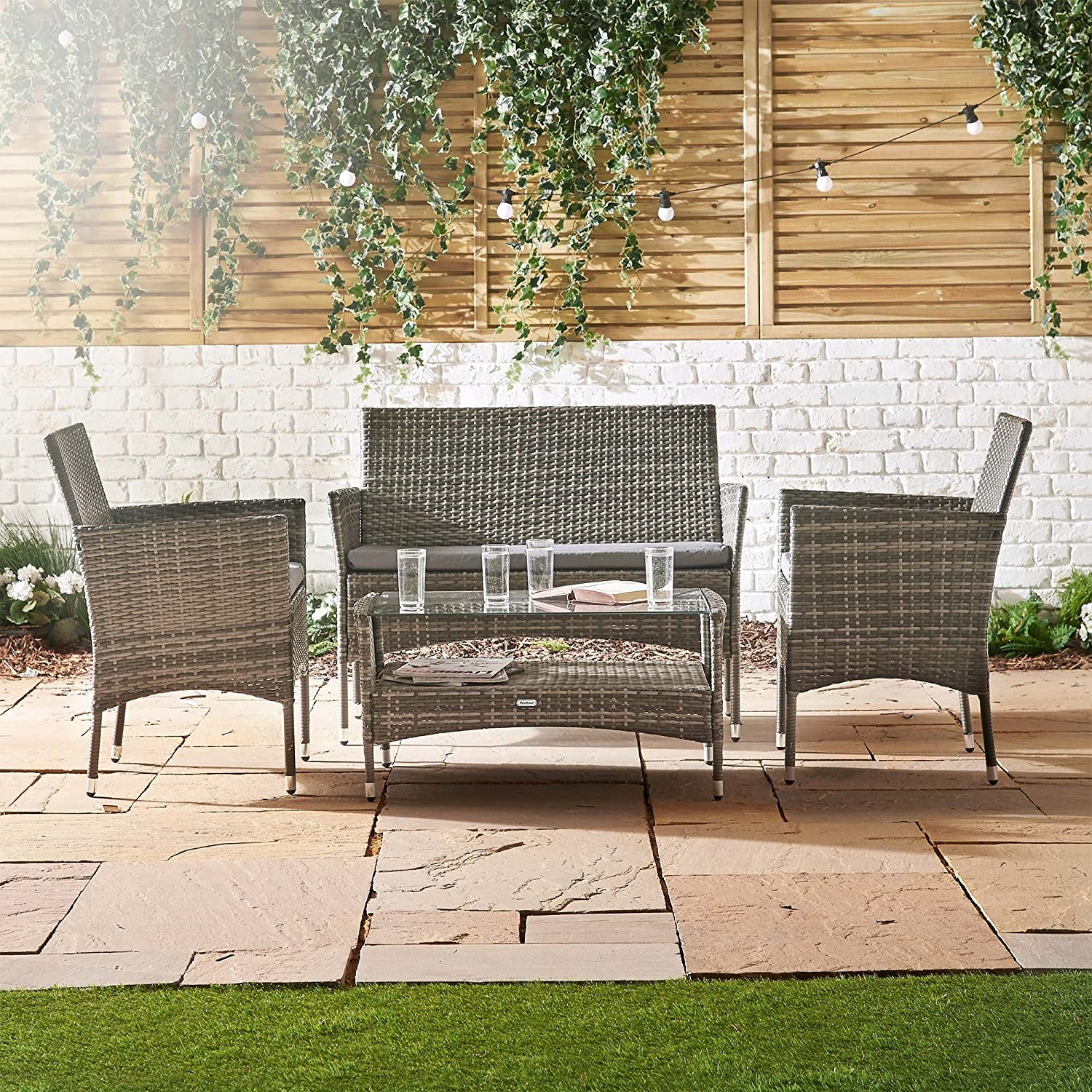 bench furniture set rocking baskets awesome recycled picture vanity chair wicker rattan stunning childs storage dining on white patio resin most backyard clearance amazon wic