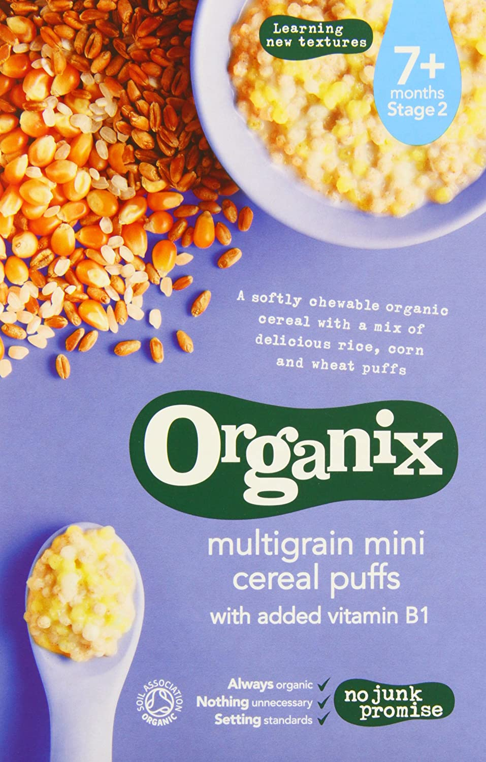 Organix Organic Multigrain Mini Puffs 90 g (Pack of 4) ORGANIX (VEGETARIAN)