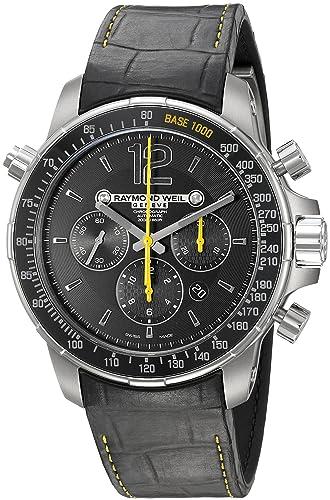 Raymond Weil Men's Nabucco 46mm Black Rubber Band Titanium Case Automatic Black Dial Watch 7850-TIR-05207
