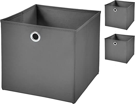 3 pieza plegable caja gris oscuro 28 x 28 x 28 cm caja plegable ...