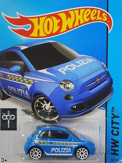 Amazon Com Hot Wheels 2015 Hw City Fiat 500 50 250 Blue Toys Games