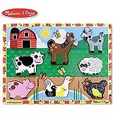 Melissa & Doug 农场木制厚拼图 标准版 均码 多种颜色