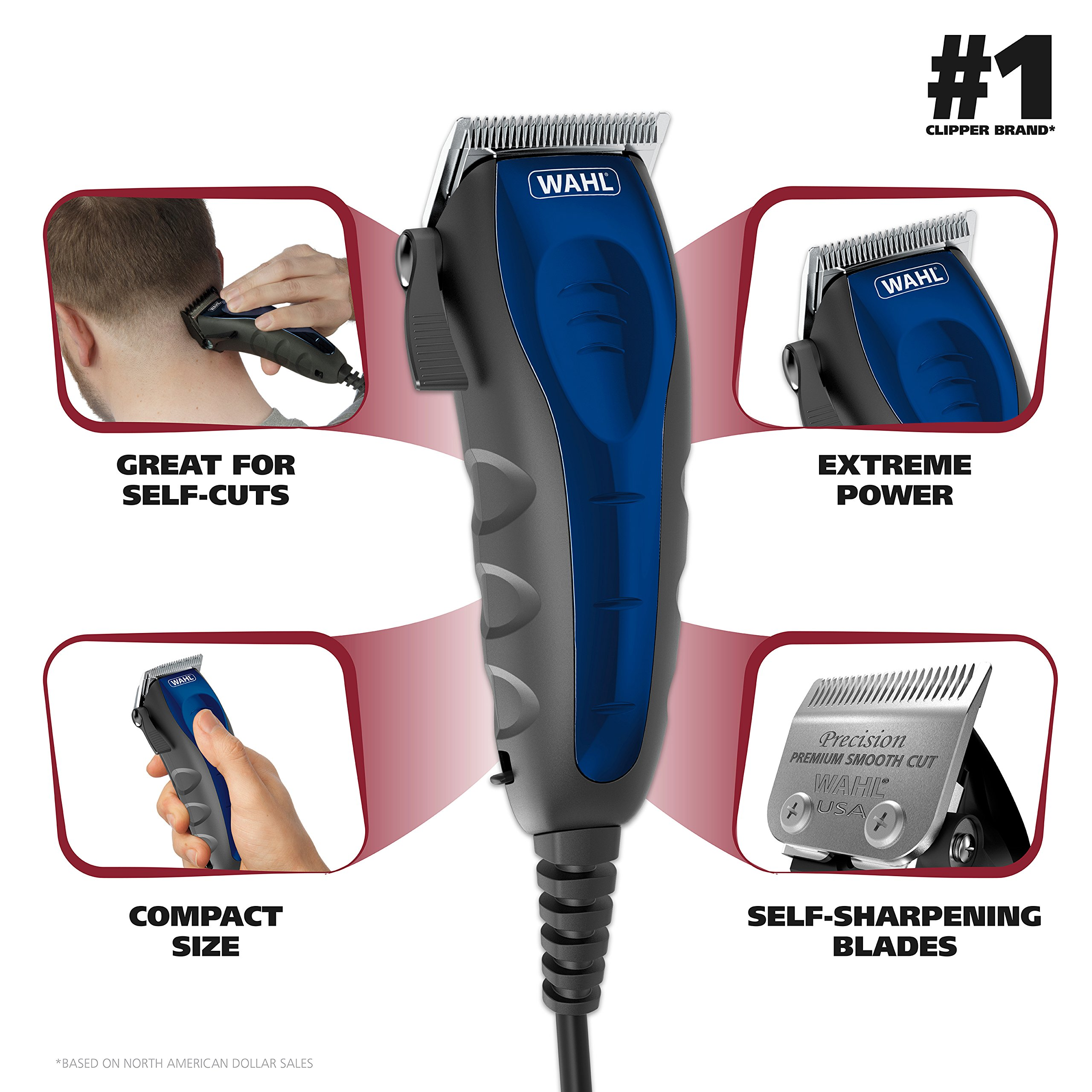 Wahl Clipper Self-Cut Haircutting Kit 79467 Compact Trimming and Personal Grooming Kit by WAHL (Image #2)