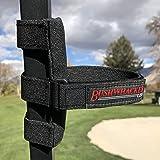 The Original Bushwhacker Portable Speaker Mount for Golf Cart Railing - Adjustable Strap Fits Most Bluetooth Wireless Speaker