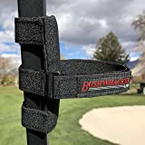 Bushwhacker The Original Portable Speaker Mount for Golf Cart Railing - Adjustable Strap Fits Most Bluetooth Wireless Speakers Attachment Accessory Holder Bar Rail