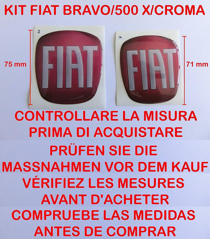 GTBTUNING Bravo Rosso Kit Adesivo Stickers Logo Stemma Badge Fiat
