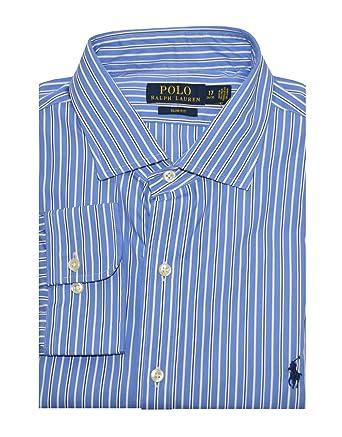 a844a962 Polo Ralph Lauren Men's Slim Fit Striped Poplin Dress Shirt
