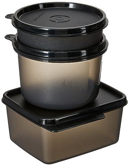 Buy Tupperware Polypropylene Ubercool Lunch Set Black Online At Low