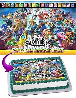 Super Smash Bros. Ultimate 2018 Edible Cake Image Topper Personalized Birthday 1/4 Sheet