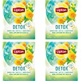 Lipton Herbal Supplement with Green Tea Detox 15 ct, Pack of 4