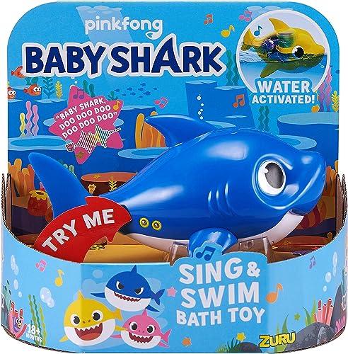 Robo-Alive-Junior-Baby-Shark-Battery-Powered-Sing-and-Swim-Bath-Toy-by-ZURU