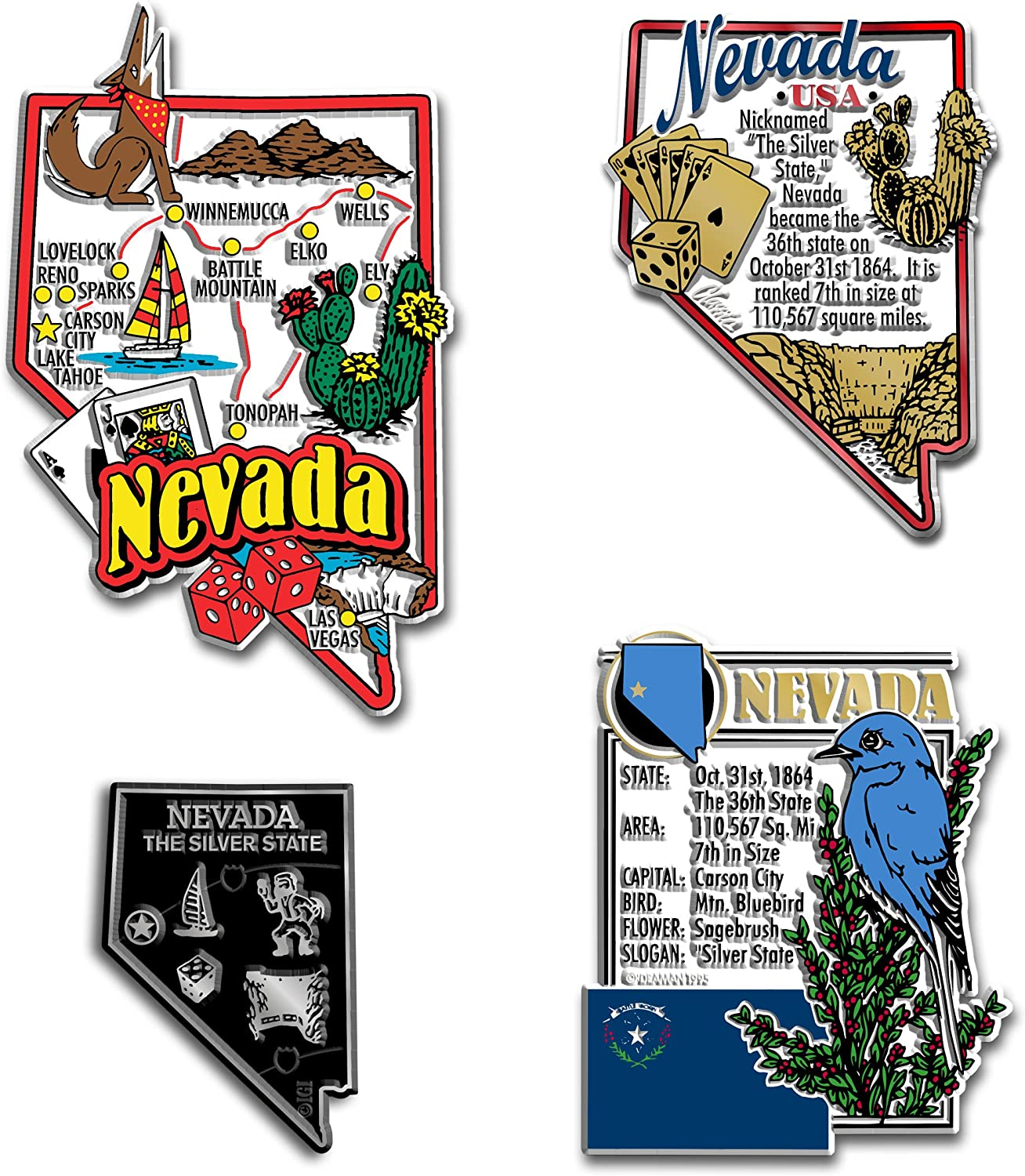 Carson City Nevada State Capital Decal Sticker5.5-Inches By 3.4-Inches