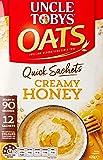 UNCLE TOBYS Oats Quick Sachets Creamy Honey, 12 Sachets, 420g