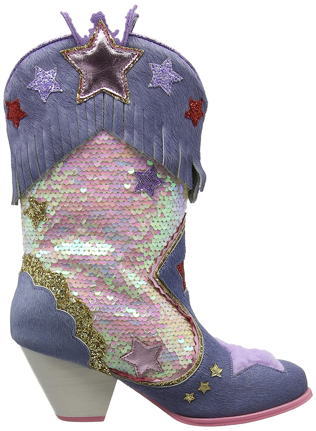 Shes Hip Hes Hop, Botas Camperas para Mujer, Multicolor (Blue Multi a), 36 EU Irregular Choice