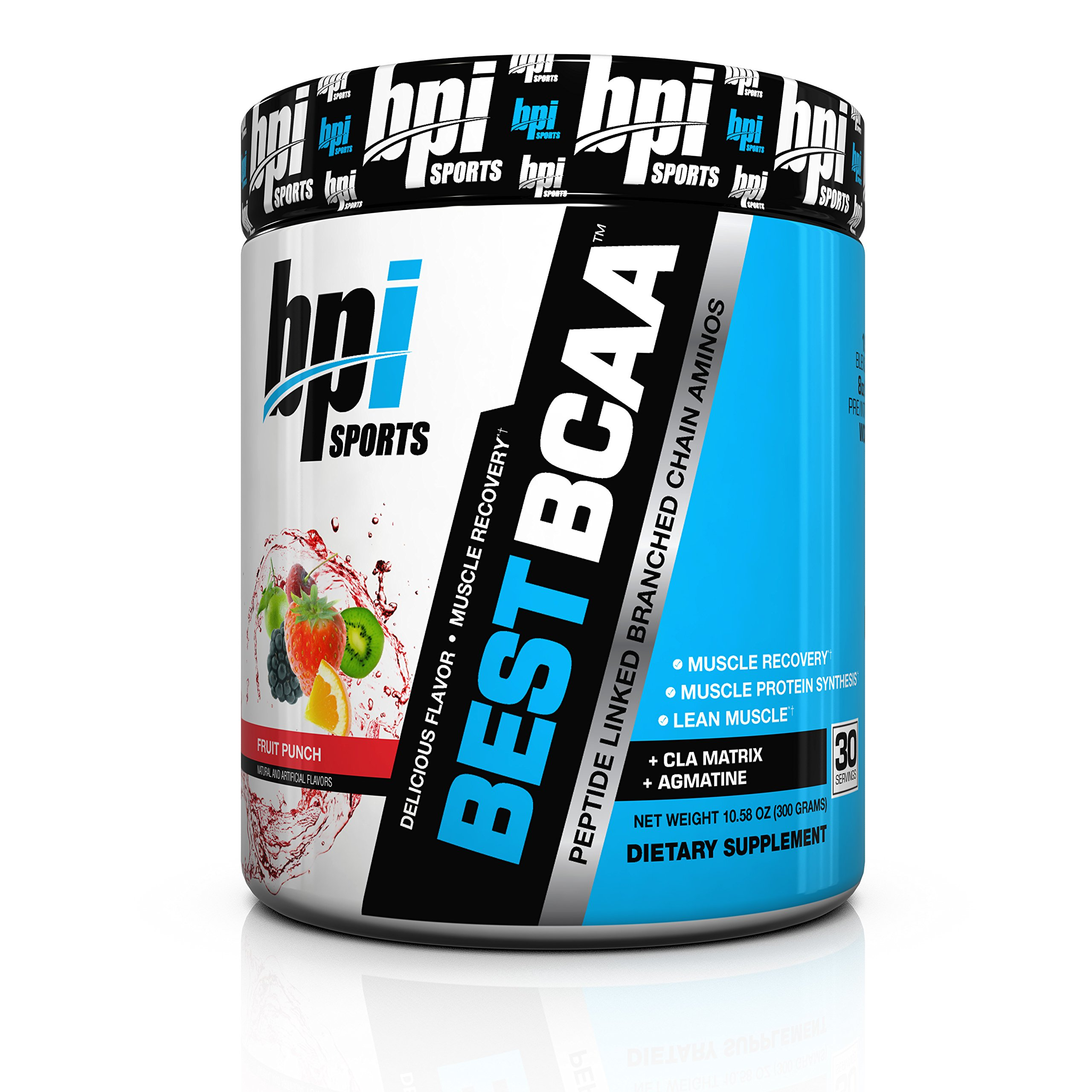 BPI Sports Best BCAA Powder, Fruit Punch, 10.58 Ounce