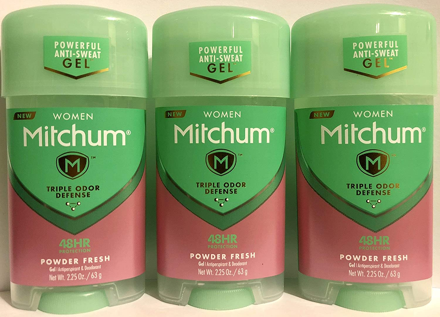Mitchum For Women Power Gel Anti-Perspirant Deodorant Powder Fresh 2.25 oz (Pack of 3)