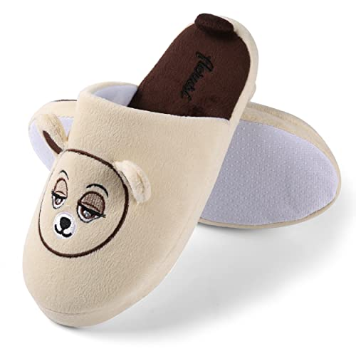 45a803f99479 Aerusi Mom Dad Kid Family Slipper Beautiful Comfory House Indoor Slippers  Slip-On Soft Warm Bedroom Footwear  Amazon.ca  Shoes   Handbags