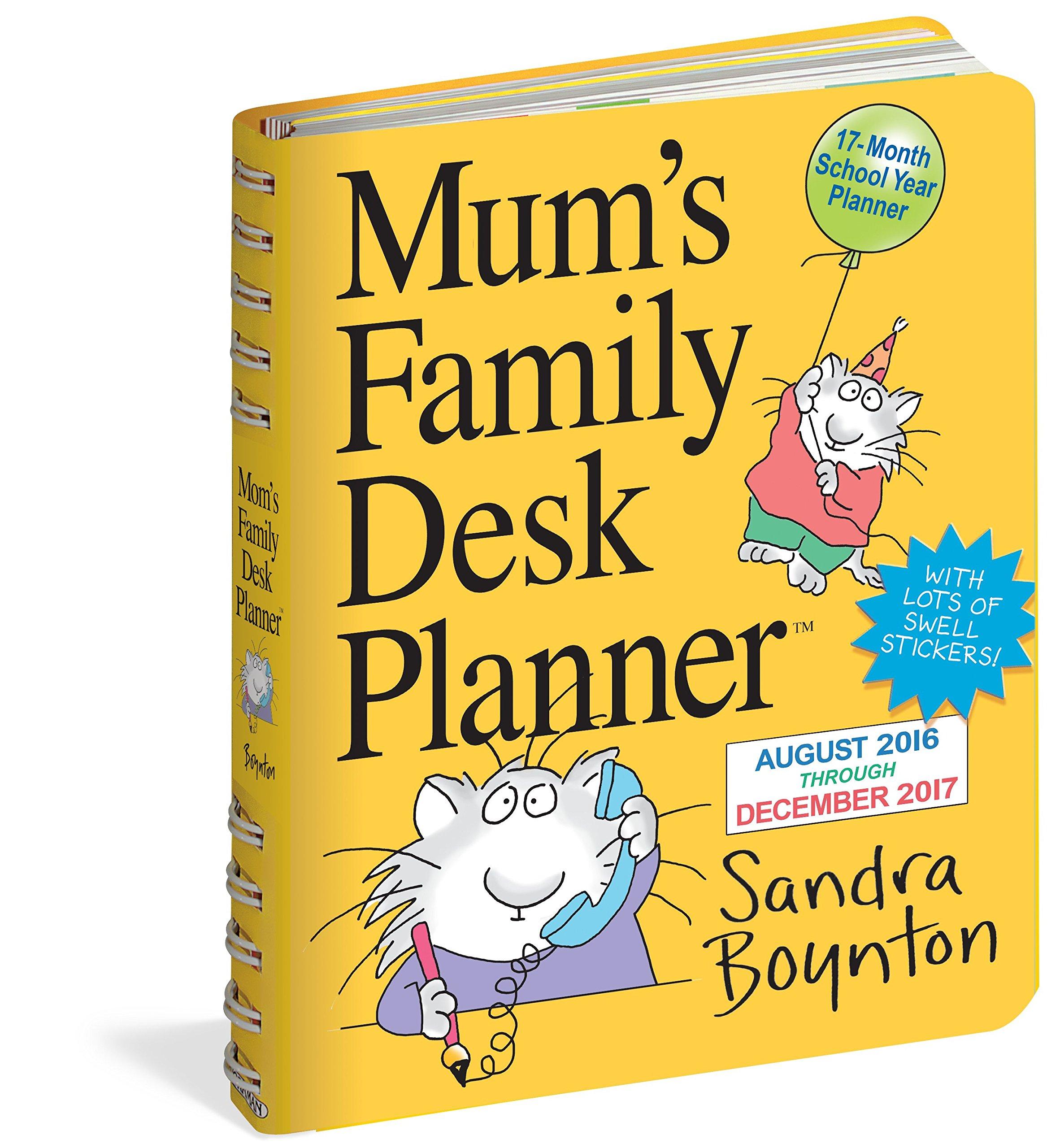 mum s family planner desk diary amazon co uk sandra boynton books