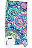 Microfibre Beach Towel for Travel - Quick Dry, Sand Free, Travel Beach Towel in Designer Paisley, Tropical & Boho Beach Towel Prints for Beach, Travel, Cruise, Outdoor, Gifts for Women 175 x 100cm (X-Large, Paisley)