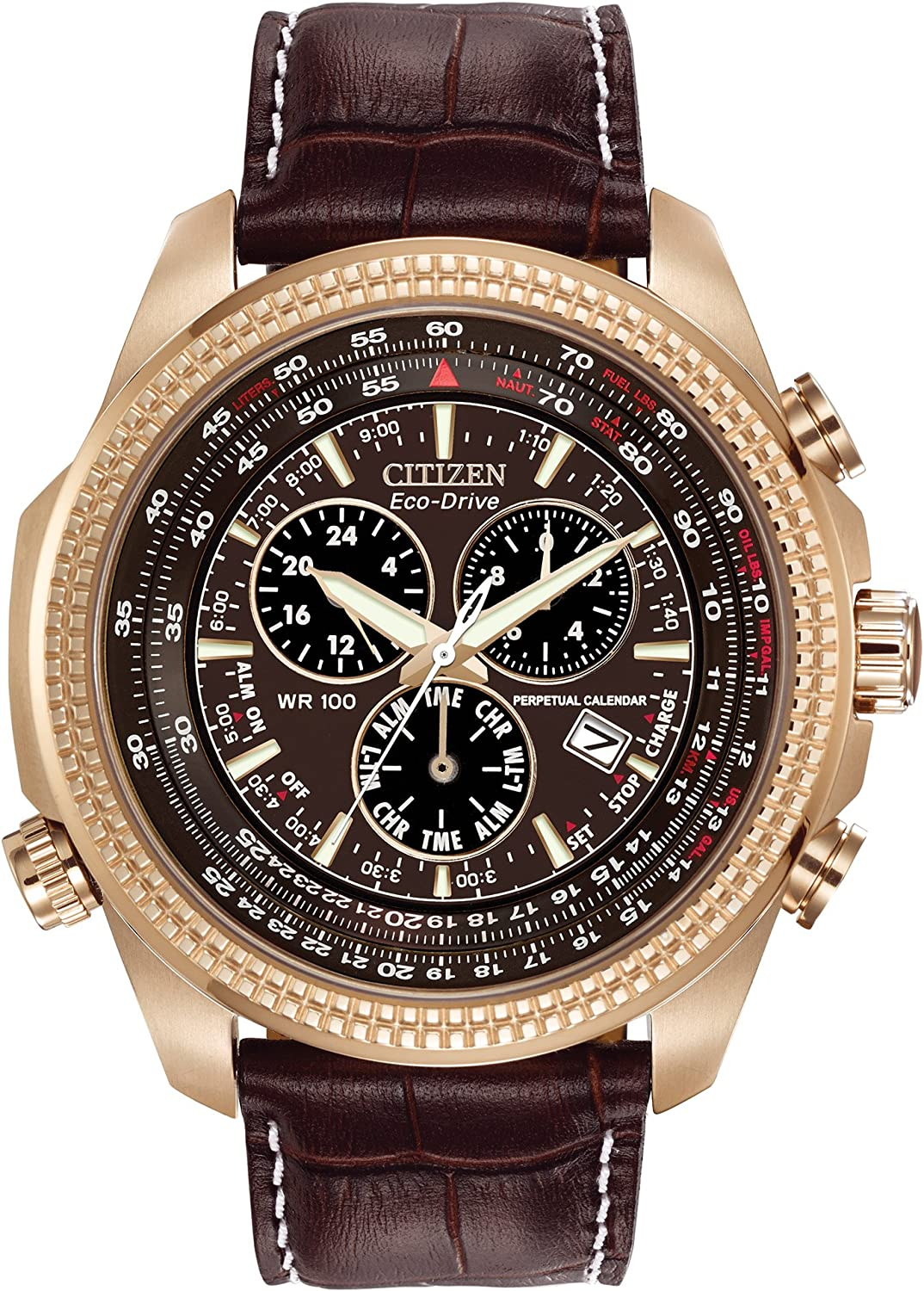 Citizen Men s Eco-Drive Chronograph Watch with Perpetual Calendar and Date, BL5403-03X
