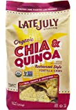 Late July Restaurant Style Tortilla Chips, 11oz, Pack of 6 (Chia Quinoa)