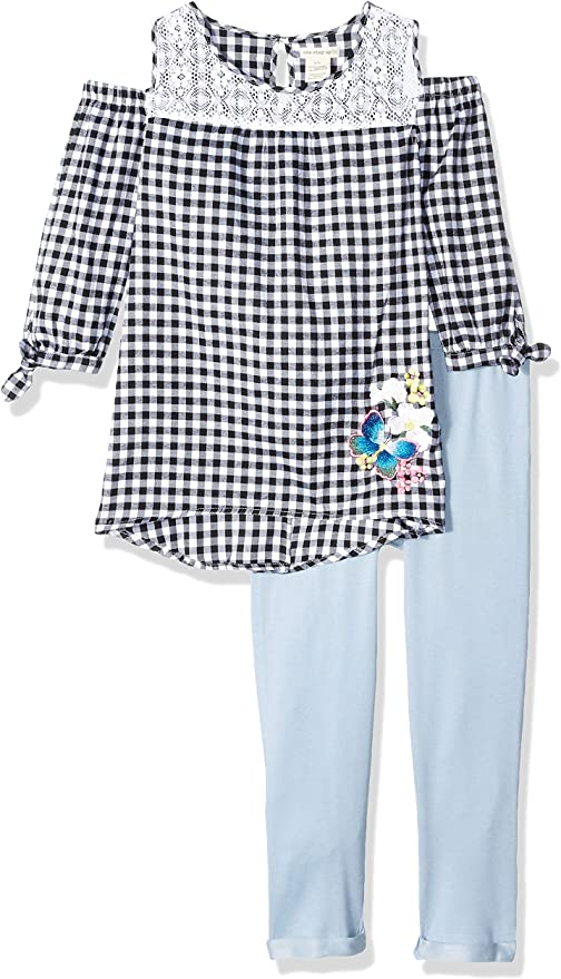 One Step Up Girls Woven Tunic and Legging Set